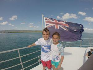 Sebastian & Louisa in front of Oz colors